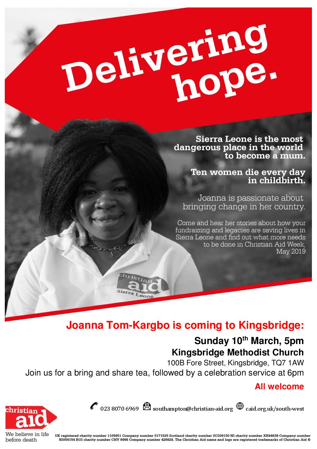 Christian Aid Bring and Share Tea followed by Service